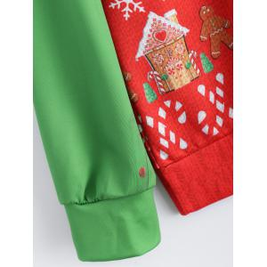 Christmas Patterned Sweatshirt - RED/GREEN ONE SIZE