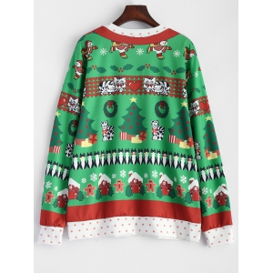 Christmas Catoon Animal Pattern Sweatshirt -
