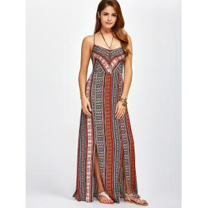 Strappy Sweetheart Neckline Maxi Bohemian Dress -