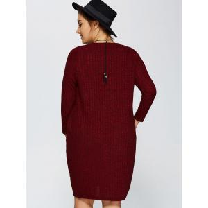 Plus Size Ribbed Bodycon Sweater Dress -