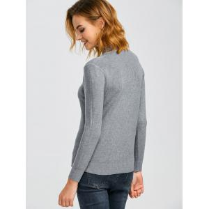 Ribbed Knit Pullover Sweater -