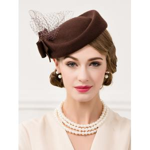 Vintage Bowknot Lace Pillbox Hat