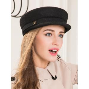 Chic Star Flat Wool Fedora -