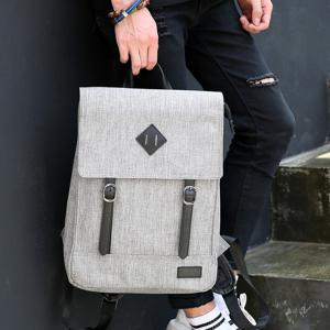 Splicing Color Block Double Buckle Backpack -