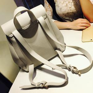 Drawstring Cover Backpack - GRAY