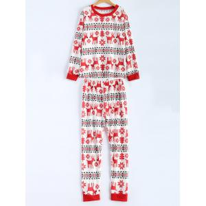 Christmas Deer Print T-Shirt and Pants Set