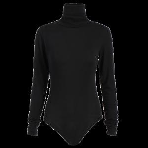 Fitted Gloved Sleeve Turtleneck Bodysuit