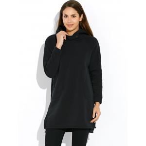 Thick Button  Hooded Dress -