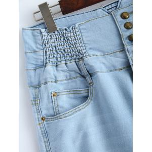 Plus Size High Waist Buttoned Jeans -