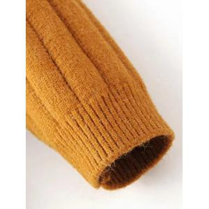 Turtleneck Side Slit Ribbed Knit Sweater - EARTHY ONE SIZE