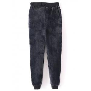 Velvet Sweatshirt and Jogging Pants -