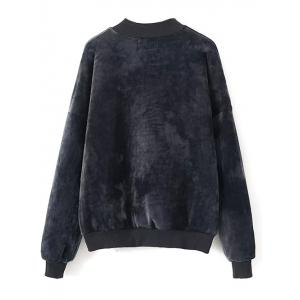 Velvet Sweatshirt and Jogging Pants - BLACK L