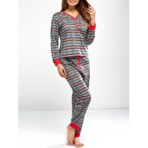 Christmas Snowflake Print Sleepwear Sets