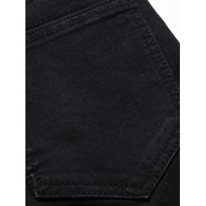 Plus Size Back Straight Leg Jeans - BLACK 36