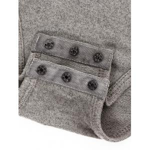 Fitted Gloved Sleeve Turtleneck Bodysuit - GRAY L
