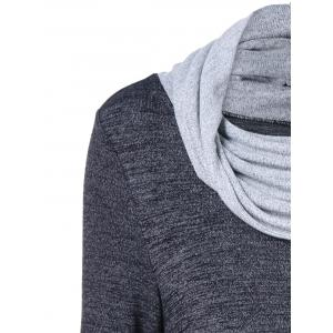 Cowl Neck Asymmetrical Knitwear -