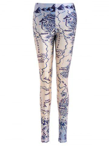 Online Abstract Print Bodycon Leggings