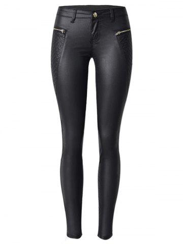Shop Diamond Pattern Faux Leather Ponte Pants