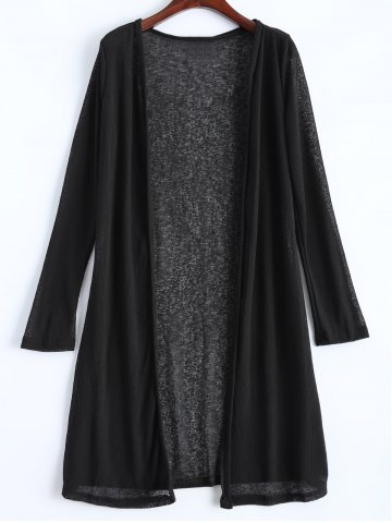 Fancy Open Front Long Duster Cardigan