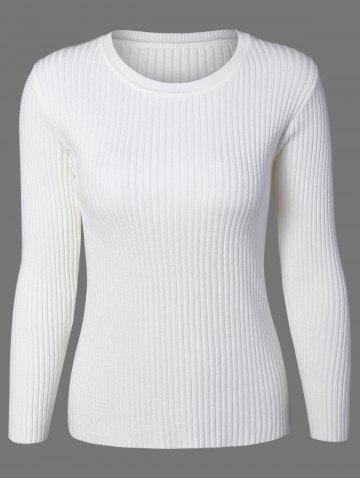 Crew Neck Knit Ribbed Sweater