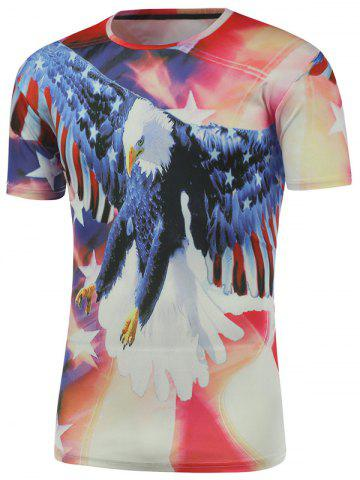 Affordable Eagle 3D Printed Short Sleeve Tee - L COLORMIX Mobile