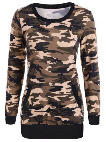Unique Camouflage Pattern Sweatshirt BLACK XL