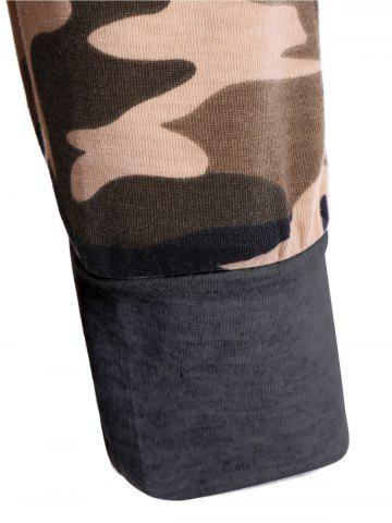 Affordable Camouflage Pattern Sweatshirt - S DEEP GRAY Mobile
