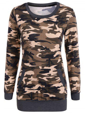 Hot Camouflage Pattern Sweatshirt - S DEEP GRAY Mobile