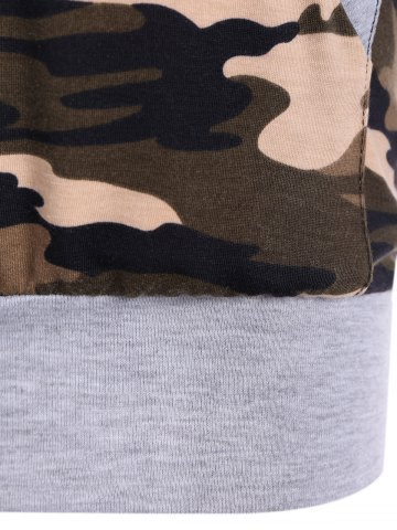 Discount Camouflage Pattern Sweatshirt - S LIGHT GRAY Mobile