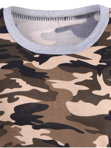 Buy Camouflage Pattern Sweatshirt - S LIGHT GRAY Mobile