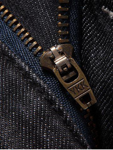 New Slim Fit Zip Fly Low Waisted Jeans - 36 DEEP GRAY Mobile