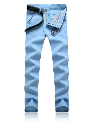 New Trimmed Pocket Zipper Fly Tapered Pants - 32 AZURE Mobile