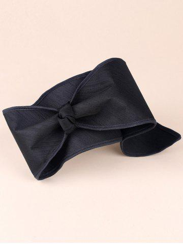 Outfit Tie Wide Bowknot Wrap Headband - BLACK  Mobile
