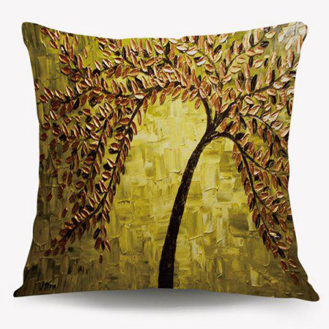 Trendy Artistic Oil Paint Tree Cushion Throw Pillow Case