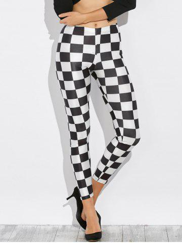 Sale Checked Stretchy Pencil Leggings