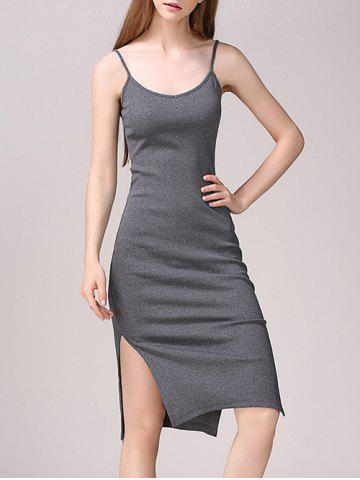 New Side Slit Bodycon Tank Dress