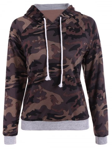New Pullover Camo Print Hoodie CAMOUFLAGE COLOR 2XL