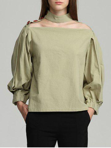 Outfit Choker Puff Sleeve Top