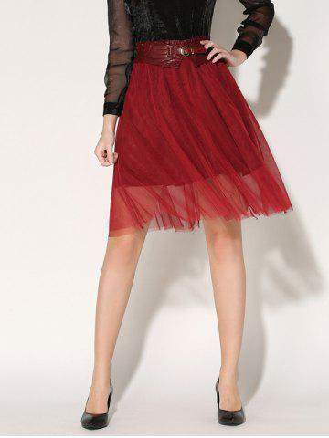 Hot Tulle A-Line Skirt