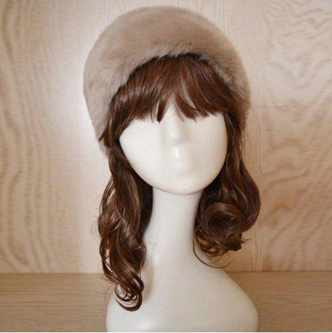 Chic Faux Fur Headband KHAKI