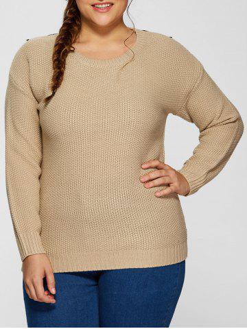 New Plus Size Embellished Sweater