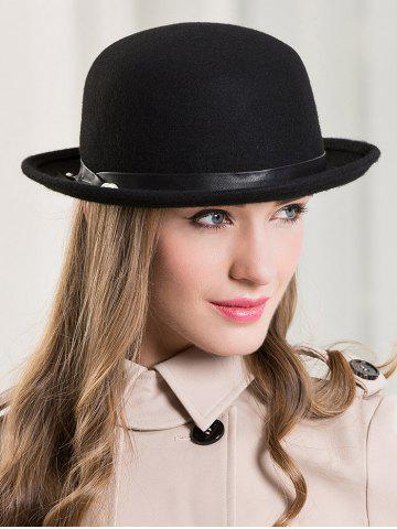 Online Wide Brim Wool Dome Fedora Hat