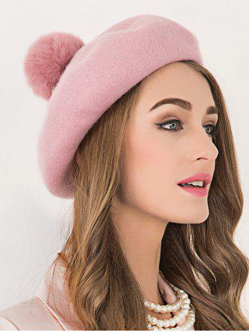 Hot Soft Wool Fuzzy Ball Beanie Beret Hat