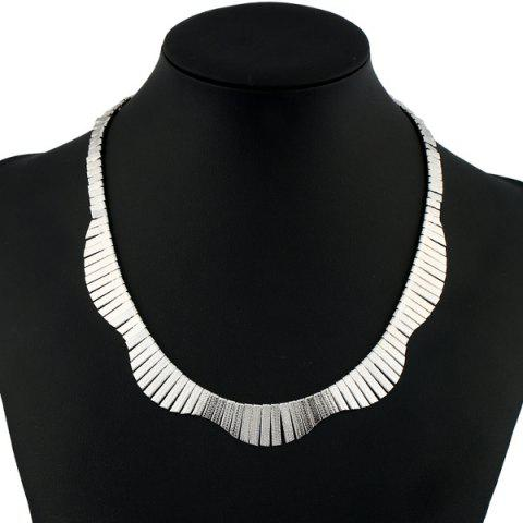 Shops Vintage Alloy Floral Collar Necklace SILVER