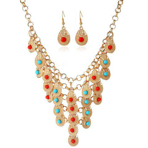 Store Bohemian Beads Necklace and Earrings