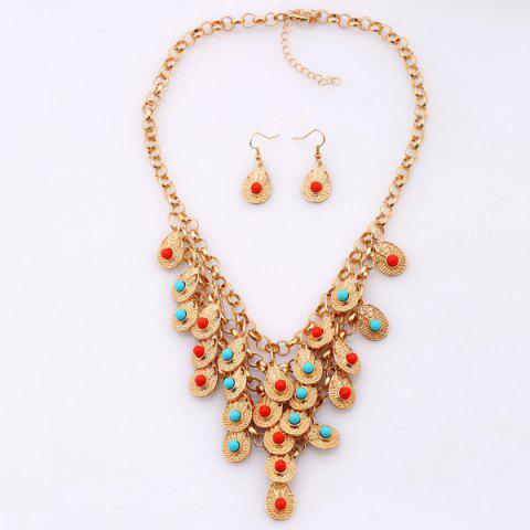 Buy Bohemian Beads Necklace and Earrings - GOLDEN  Mobile