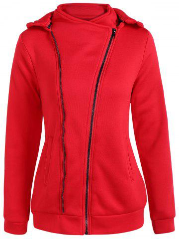 Hot Hooded Inclined Zip Jacket