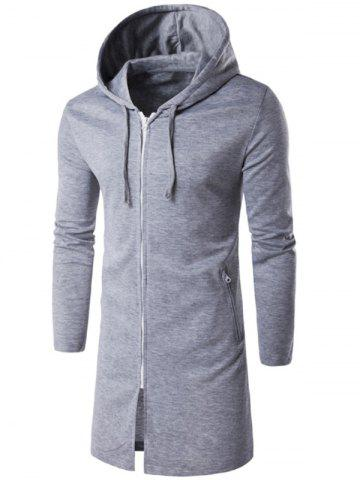 Shop Hooded Longline Zip Up Hoodie