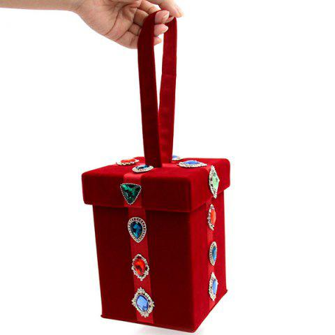 Outfit Cube Shaped Artificial Jewel Evening Bag