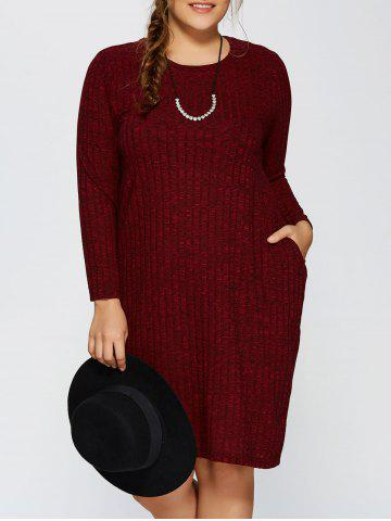 Chic Plus Size Ribbed Bodycon Sweater Dress